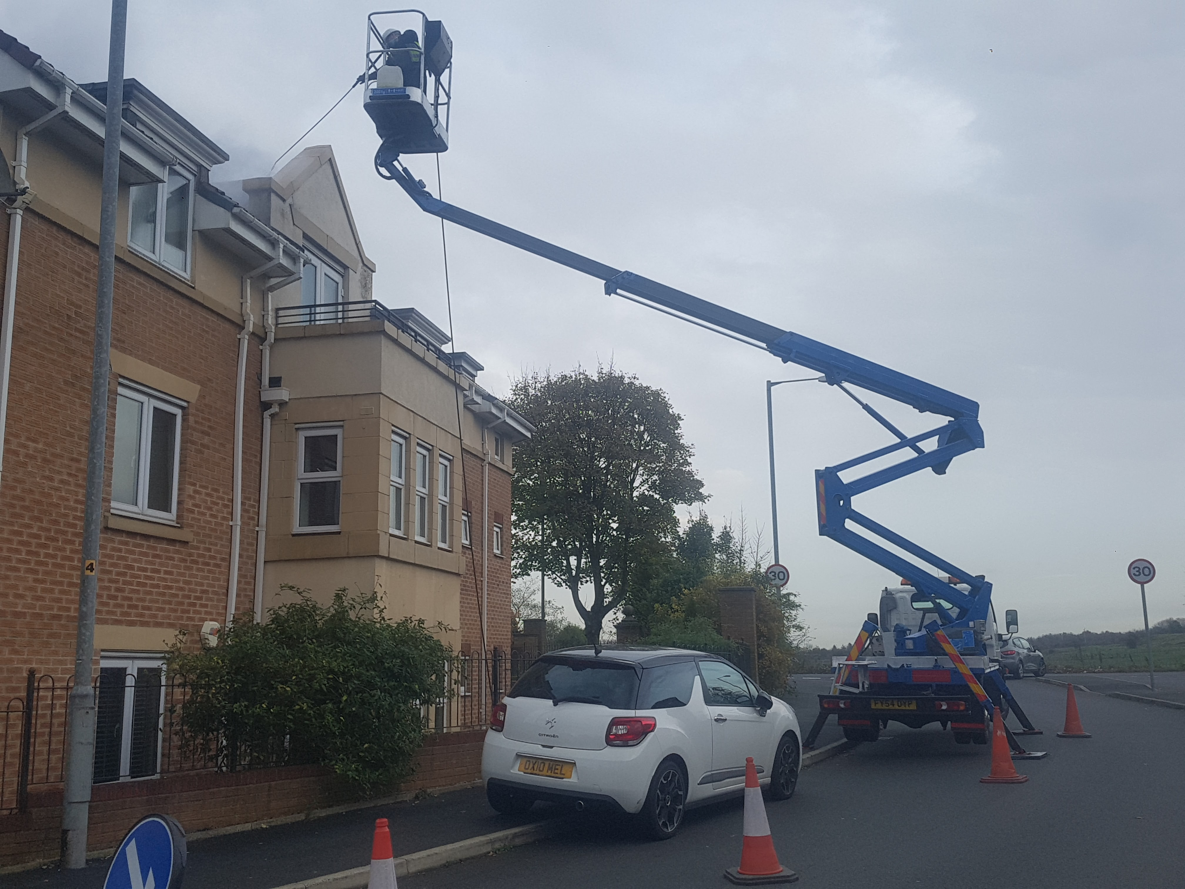 Cherry picker access platform hire in Bolton, Manchester